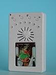 Rosario elettronico bianco Madonna di Pompei