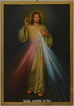 Tavola Gesù misericordioso foglia oro