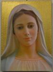Tavola Madonna di Medjugorje foglia oro