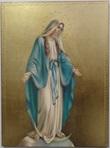 Tavola Madonna miracolosa foglia oro
