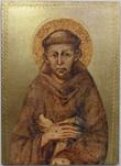 Tavola San Francesco foglia oro