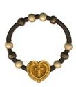Bracciale decina rosario Papa Francesco cuore