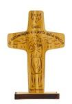 """Croce Papa Francesco """"Gesù ci accompagna…"""" da tavolo"""