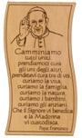 Tavoletta Papa Francesco con preghiera da tavolo