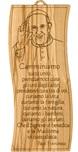Tavoletta Papa Francesco con preghiera da parete