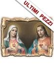 Quadretto sagomato 3D Cuori di Gesù e Maria