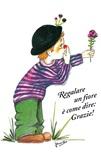 """Poster """"Regalare un fiore…"""""""