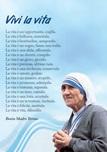 """Poster """"Vivi la vita"""" (Madre Teresa di Calcutta)"""