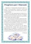 """25 cartoline """"Preghiera per i fidanzati"""""""