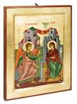 Icona Annunciazione cornice dorata
