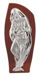 Bassorilievo Madonna con bambino legno argento