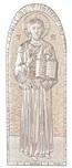 Icona Cristo bizantina argento