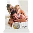 Portafoto bianco ovale Matrimonio fedi nuziali