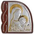 Icona ventaglio dorata Madonna con Bambino