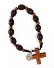 Decina rosario legno Giovanni Paolo II Santo legno