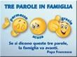 """Magnete """"Tre parole in famiglia"""" Papa Francesco"""