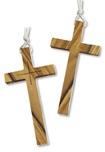 Croce per saio in legno d'ulivo corpo intero e incisione
