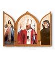 Trittico San Giovanni Paolo II e Divina Misericordia