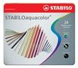 Matite colorate acquerellabile scatola metallo 24 colori (STABILOaquacolor)