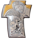 Icona croce argento Sacra Famiglia