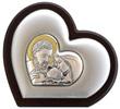 Icona cuore argento Sacra Famiglia