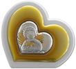 Icona cuore argento angioletto