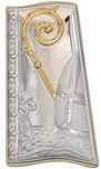 Icona a tegola argento Cresima panna