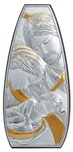 Icona ovale argento Sacra Famiglia dorata