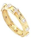 Anello Rosario Amen zirconi bianchi argento dorato Oggettistica devozionale