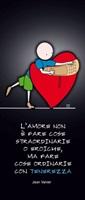 """20 segnalibri """"L'amore non è fare  cose straordinarie…"""" Cartoleria"""