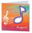 Biglietto augurale con nota musicale sagomata Festività, ricorrenze, occasioni speciali
