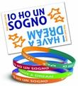 """Braccialetto """"IO HO UN SOGNO - I HAVE A DREAM"""".  Bi-color e bi-lingue! Oggettistica devozionale"""