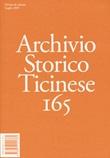 Archivio storico ticinese. Vol. 165: Libro di
