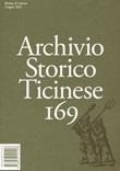 Archivio storico ticinese (2021). Vol. 169: Libro di