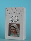 Rosario elettronico bianco Madonna Medjugorje con la nuova versione del Padre Nostro  Rosari