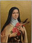 Tavola Santa Teresa foglia oro Arte sacra