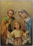 Tavola Sacra famiglia Bellazzi foglia oro