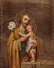 Tavola San Giuseppe foglia oro Arte sacra
