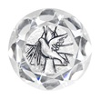 Cristallo con placca argento Cresima Festività, ricorrenze, occasioni speciali
