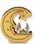 Presepe Luna-Stella in legno d'ulivo Festività, ricorrenze, occasioni speciali