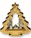 Presepe Alberello in legno d'ulivo Festività, ricorrenze, occasioni speciali