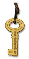 """Collana ciondolo chiave """"L'amore è la chiave…"""" Oggettistica devozionale"""