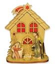 Presepe casetta con natività Festività, ricorrenze, occasioni speciali