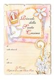 """100 Diplomi ricordo Cresima arancione """"Sigillo del dono..."""" Festività, ricorrenze, occasioni speciali"""