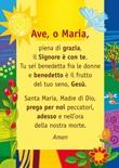 """Poster preghiera """"Ave, o Maria"""" Cartoleria"""