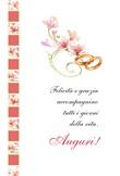 """Biglietto Matrimonio """"Felicità e grazia…"""" Festività, ricorrenze, occasioni speciali"""