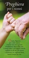 """50 segnalibri """"Preghiera per i nonni"""" Cartoleria"""