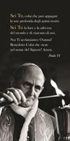 """50 Segnalibri Papa Paolo VI """"Sei Tu, colui che può appagare …"""" Cartoleria"""