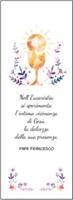 """50 Segnalibri Prima Comunione """"Nell'Eucaristia si sperimenta l'intima vicinanza di Gesù... """" Festività, ricorrenze, occasioni speciali"""