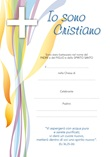 """Diploma """"Io sono Cristiano"""" Cartoleria"""